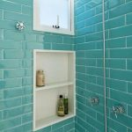 Aquamarine Color Bathroom Tiles Bricks