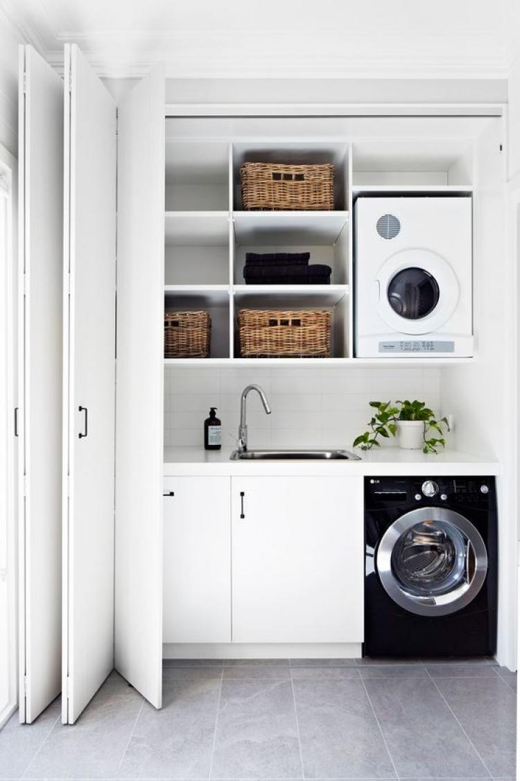 Best Washing Machine In The Small Kitchen Ideas Black White Colors Decor