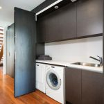 Best Washing Machine Under The Kitchen Sink With Black Cabinet