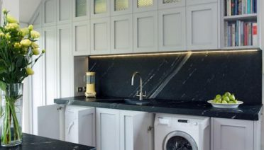 Best Washing Machine Under The Sink With White And Black Kitchen Decor Color Theme