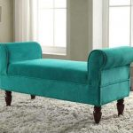 Color Aquamarine Furniture Ottoman