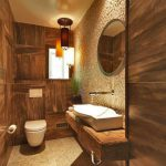 Contemporary Rustic Bathroom Small Deco Stones