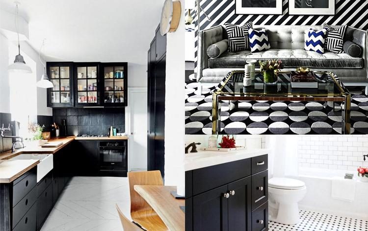How to Decorate with Shade Black and White Colors
