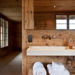Modern Rustic Bathroom Lines Purified Chalet Interior Style Spa