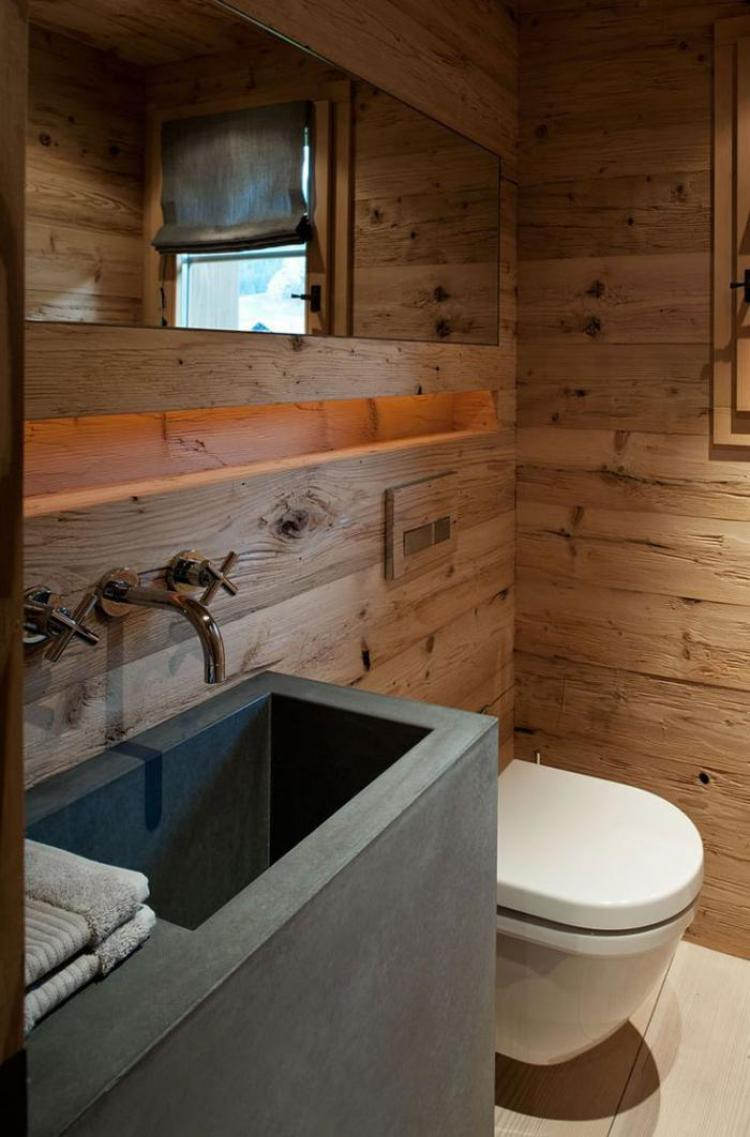 38 beautiful design of rustic bathroom ideas for Foto di case