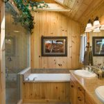 Rustic Bathroom Atmosphere Wood And Plant Climbing