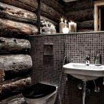 Rustic Bathroom Authenticity And Contemporary Style Mosaic Tiles
