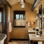 Rustic Bathroom Ceiling Wood Beams