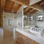 Rustic Bathroom Glass Shower Wall