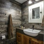 Rustic Bathroom Interior Modern Rustic White Washbasin White Decorative Wall Siding