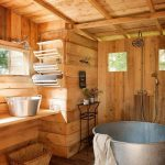 Rustic Bathroom Metal Bathtub Rural Design