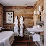 Rustic Bathroom Pretty Wooden And Ceramic Bathroom Furnishings