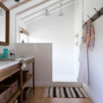 Rustic Bathroom Rustic Wooden And White Bathroom Decoration