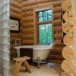 Rustic Bathroom Wonderful Wooden Decoration