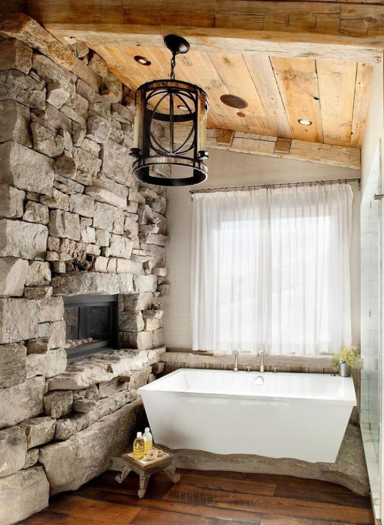 38 beautiful design of rustic bathroom ideas for Rustic stone bathroom designs