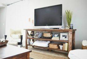 TV Console Rustic Style Furniture Design Ideas 10