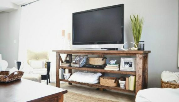 TV Console Rustic Style Furniture Design Ideas 10