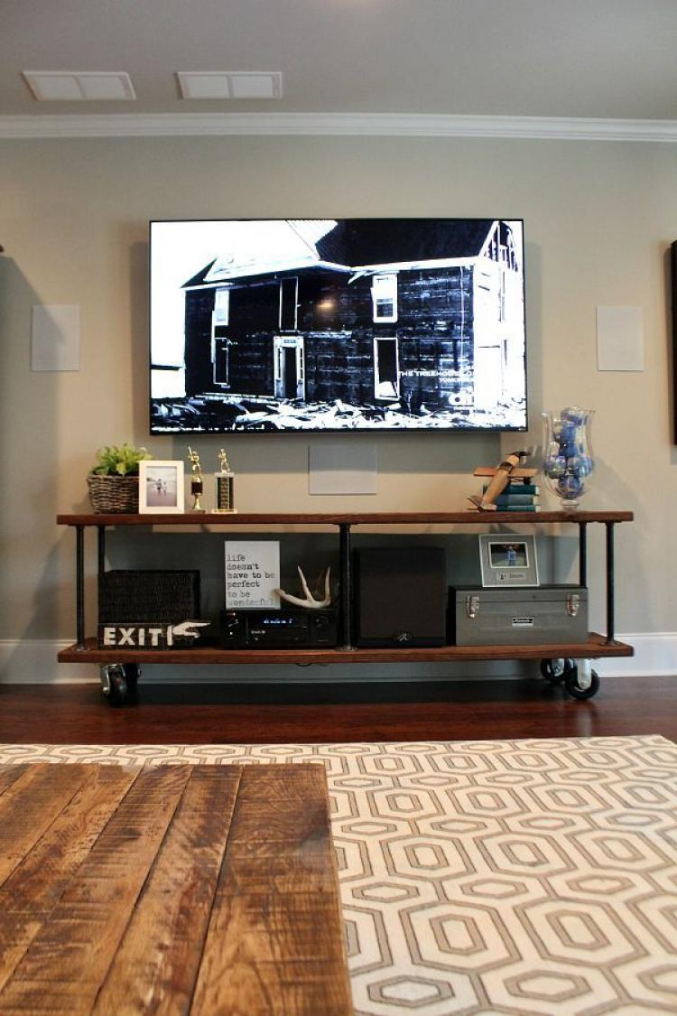 10 design ideas for a tv console rustic style furniture Wall tv console design