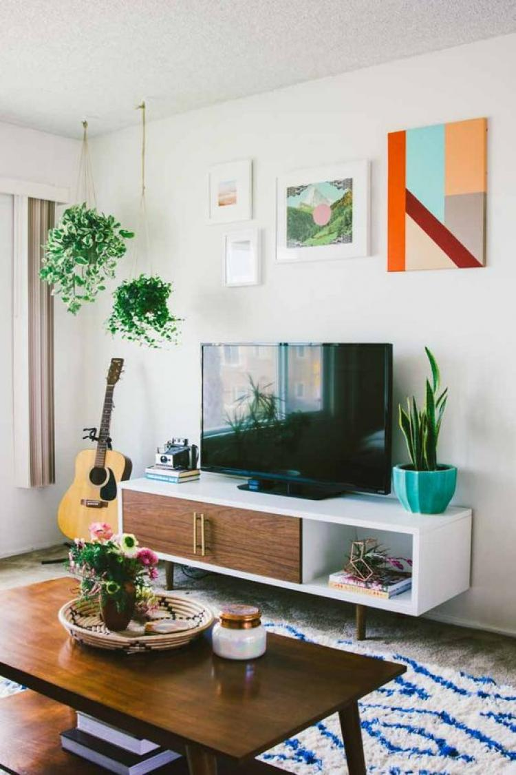 tv console rustic style furniture with modern style and drawer