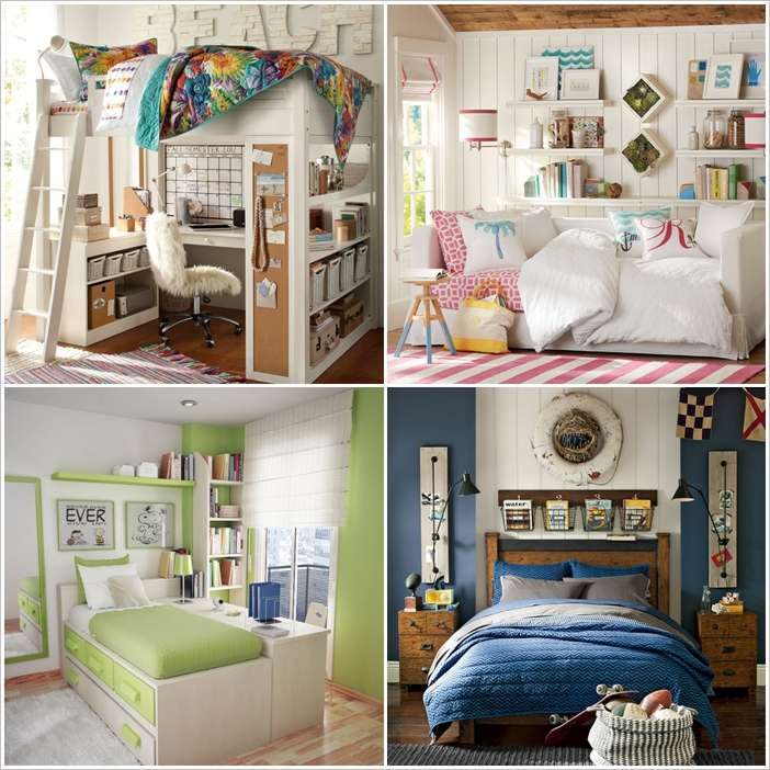 10 smart solutions teen bedrooms for small space for Small space solutions bedroom