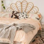 Awesome Rattan Headboard For Urban Bedroom Design