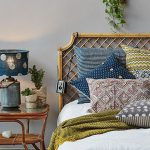 Beautiful Linens Mix Of Pattern Colors With Rattan Headboards Design