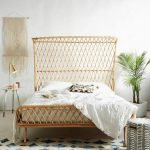 Boho Chic Bedroom With Rattan Headboards Design