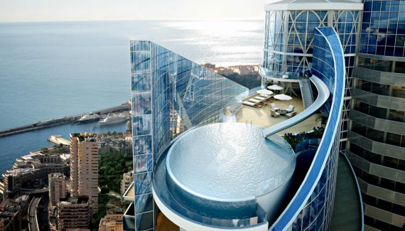 Marvelous Tour Odeon Tower Sky Penthouse Monaco Infinity Pool Architecure Design