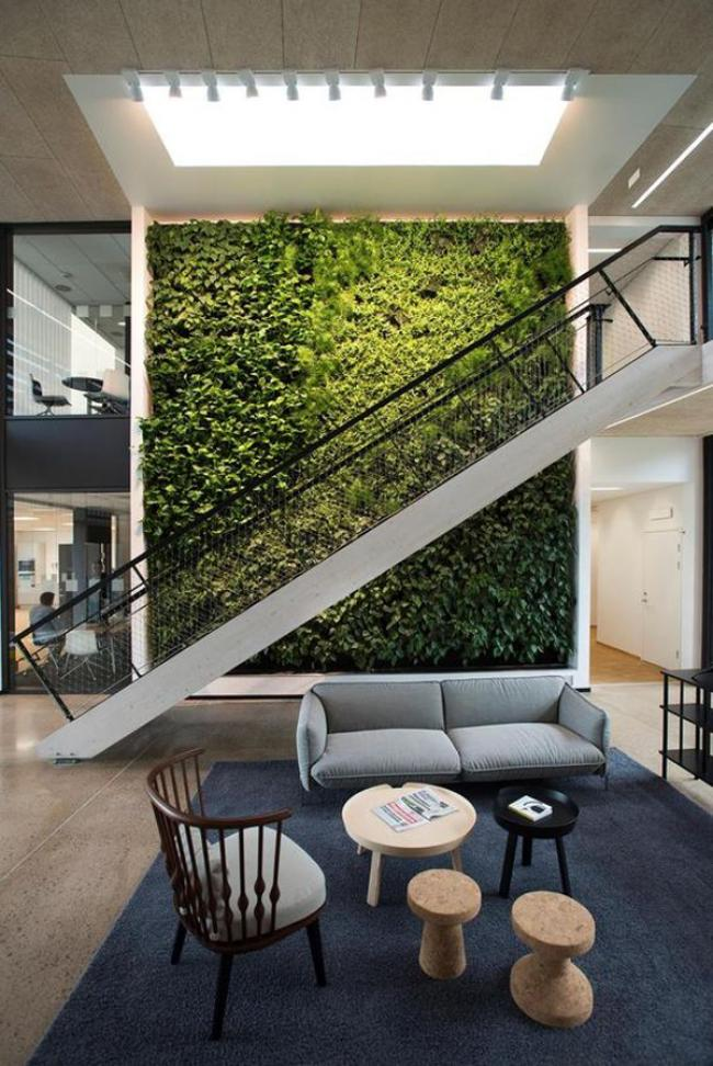 Wonderful Large Green Wall To Your Interiors Ideas