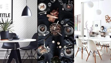 Black and White Traditional and Modern Dining Room Decor
