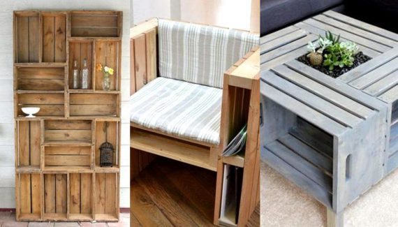 CREATIVE WOOD PALLET FURNITURE WITH EASY WAYS TO MAKE