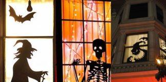 Creative Ideas Halloween Windows with Silhouettes