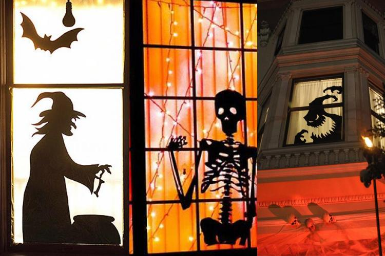 Creative Ideas Halloween Windows with Silhouettes