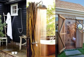 Gorgeous Outdoor Showers Make you Leave Indoor Bathroom