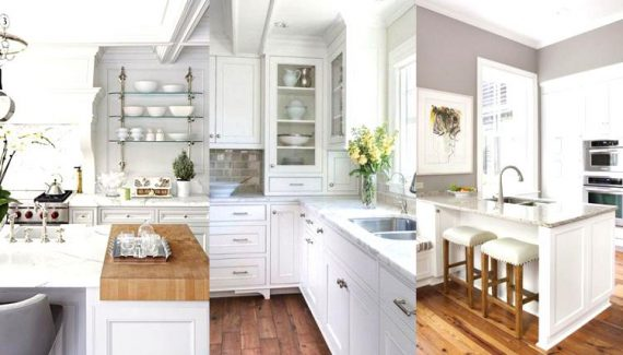 Wonderful a White Kitchen on a Budget