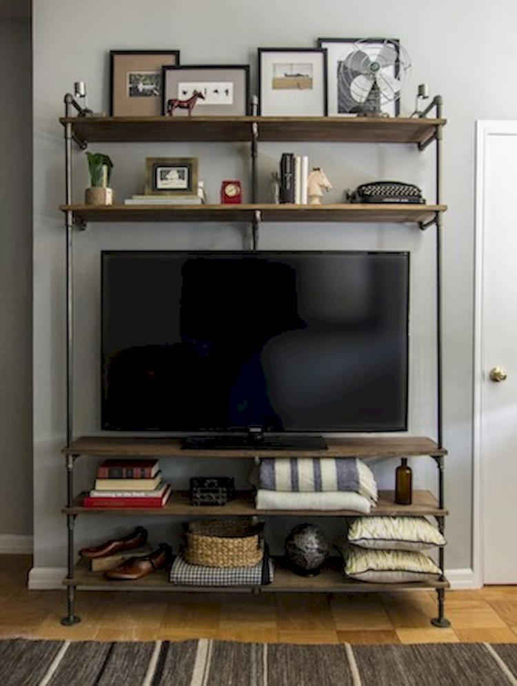 55 Diy Industrial Furniture Entertainment Center Inspirations On A Budget