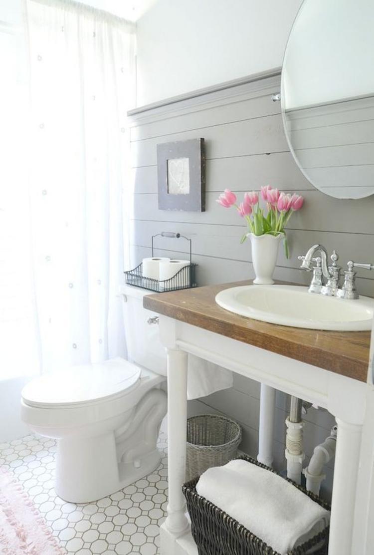 Farmhouse Master Bathroom Shower Curtain