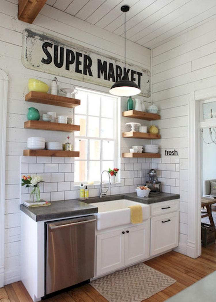 40 perfect farmhouse kitchen decorating inspirations for What is a perfect kitchen
