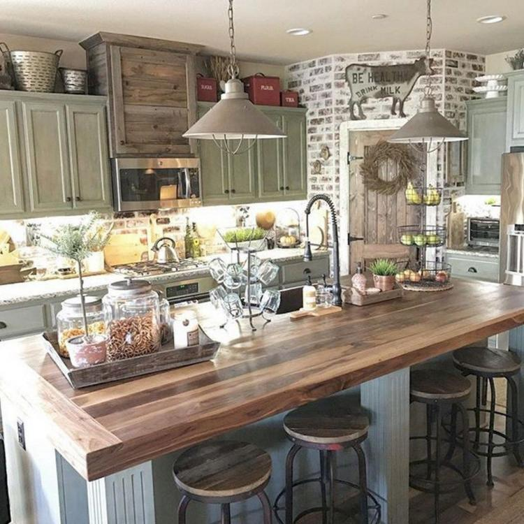 60 Gorgeous Farmhouse Kitchen Cabinet Makeover Ideas