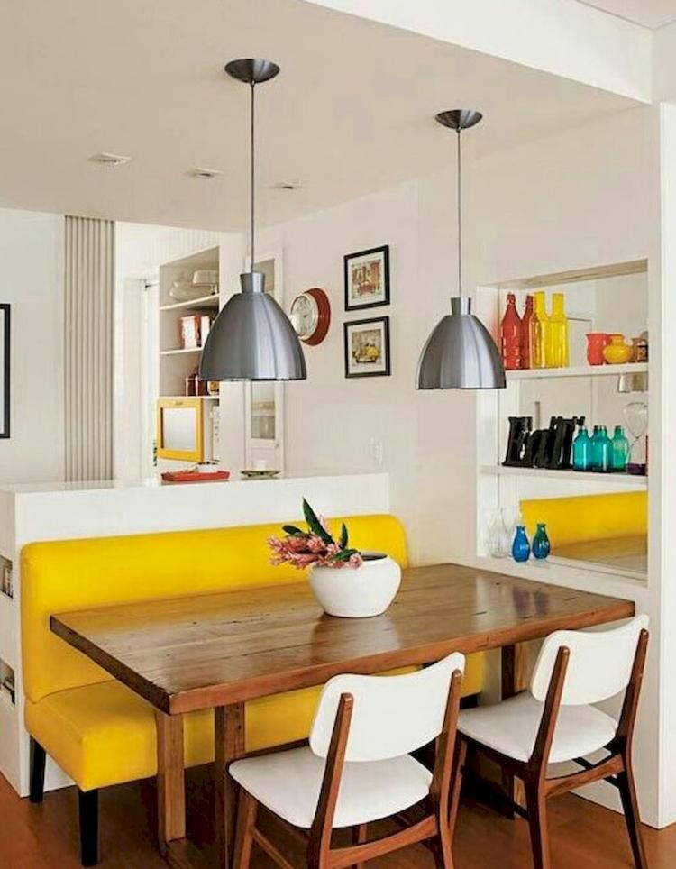 60 mid century modern dining room table and decor ideas for Mid century modern dining rooms