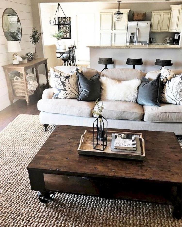 55 Modern Farmhouse Living Room Decor Ideas