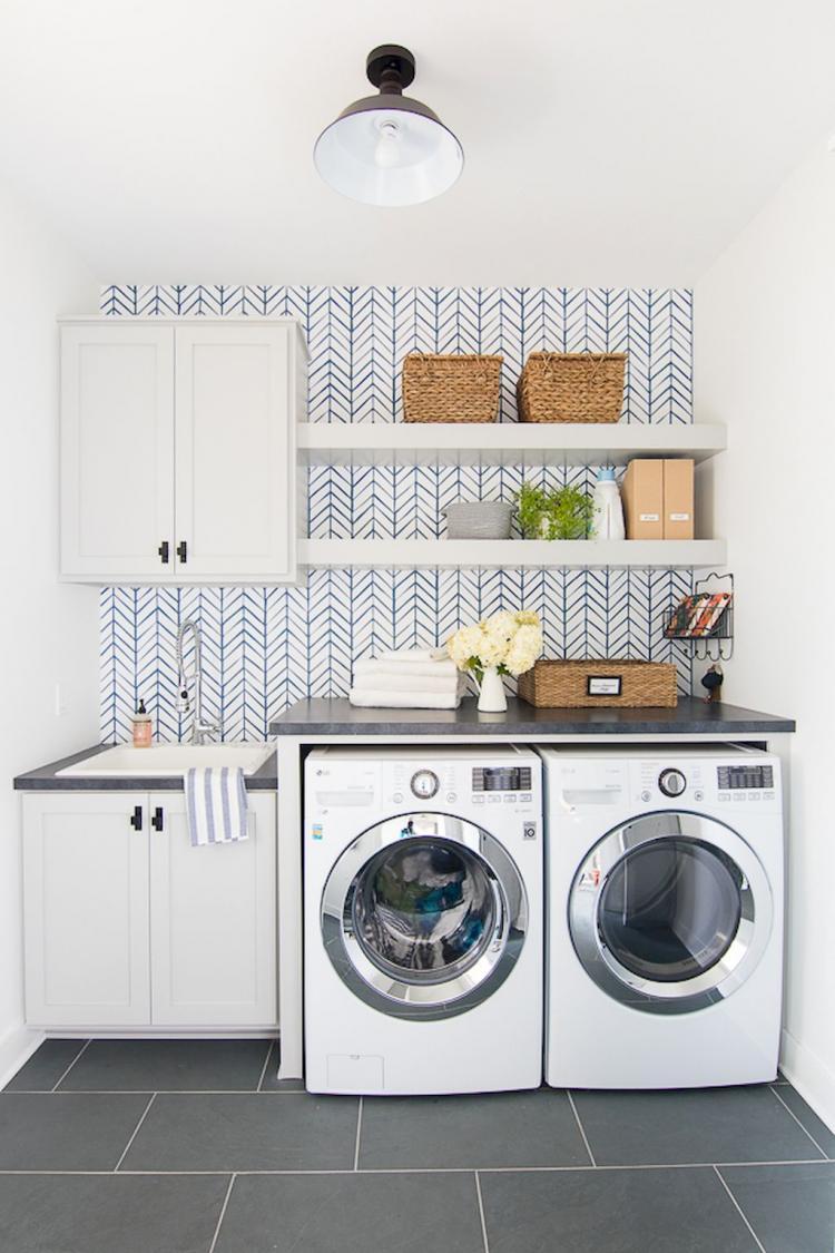 40 Beautiful Laundry Room Tile Pattern Ideas