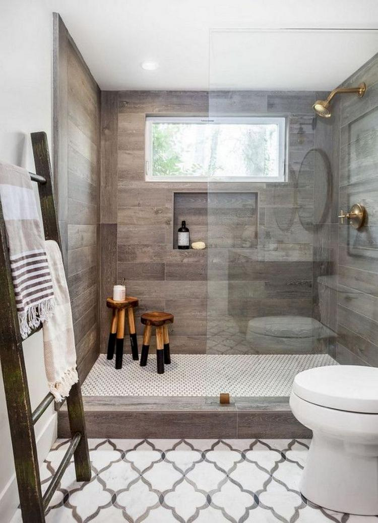 45 Cool Modern Farmhouse Master Bathroom Remodel Ideas