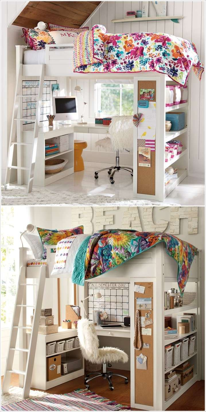 10 Smart Solutions Teen Bedrooms for Small Space on Small Bedroom Ideas For Teenager  id=54772