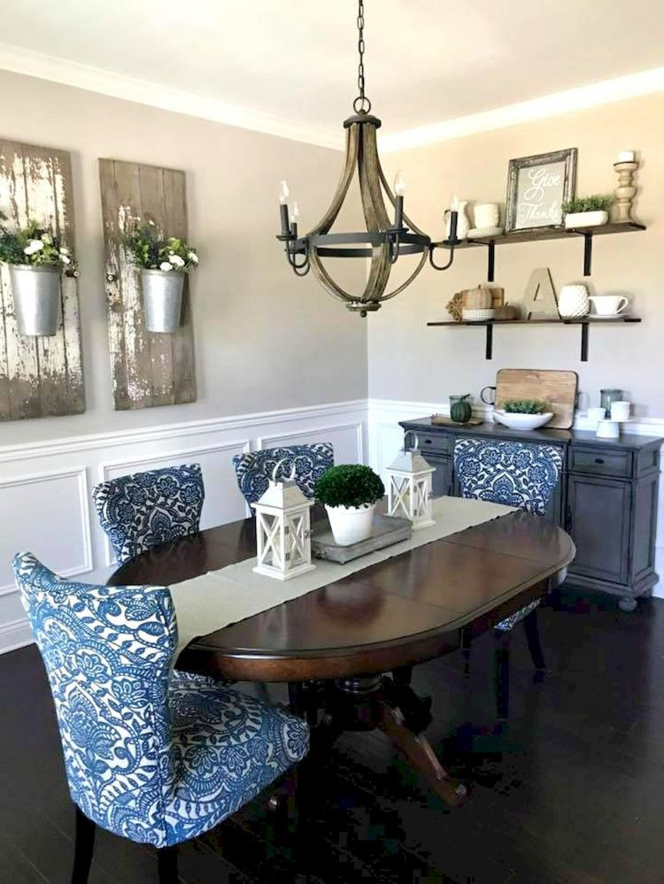 50+ Modern French Country Dining Room Table Decor ...
