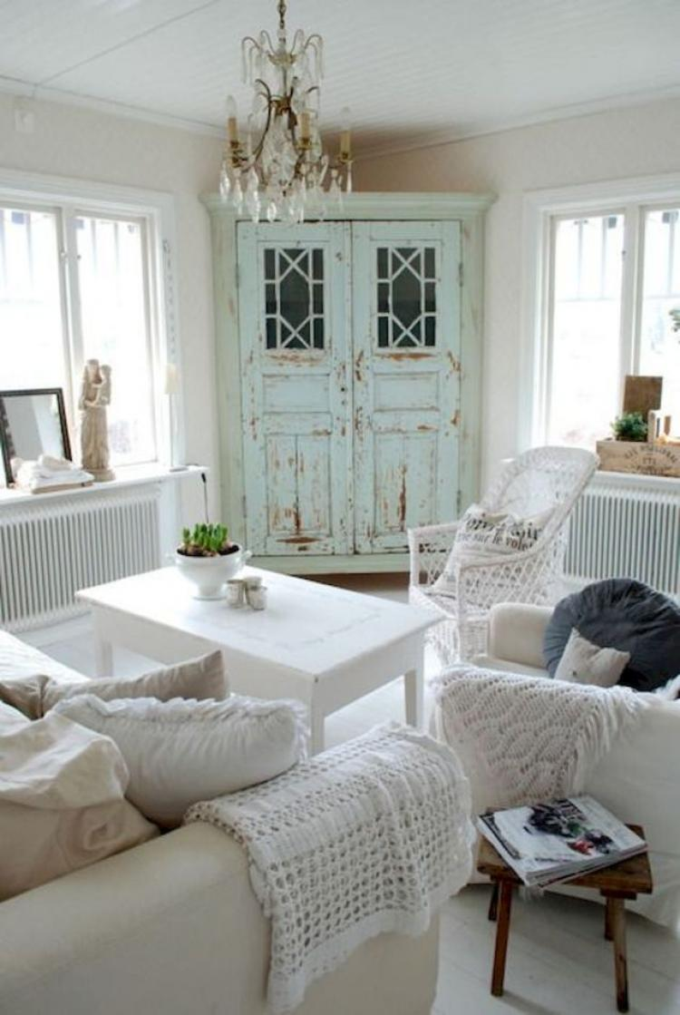 Farmhouse Chic Living Room Decor: 35 Shabby Chic Farmhouse Living Room Design Ideas