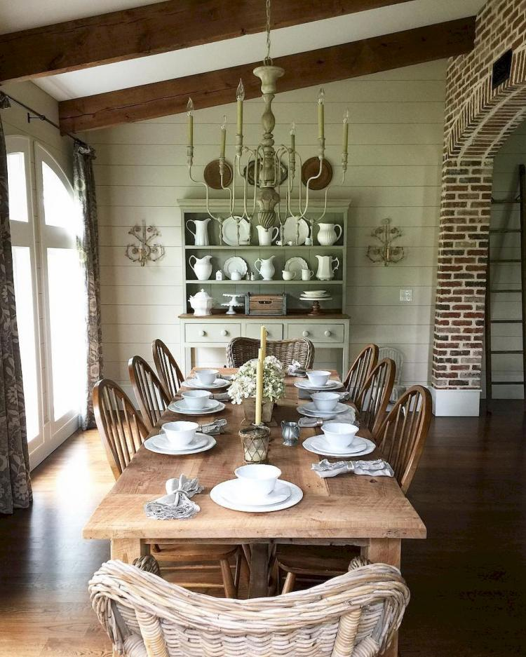 20 Tropical Dining Room Ideas For 2018: 50+ Fancy French Country Dining Room Table Decor Ideas