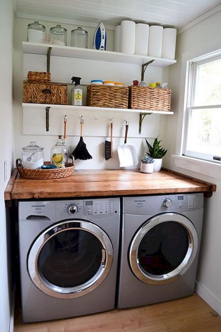 45+ Farmhouse Rustic Laundry Room Decor Ideas on Laundry Room Decor  id=87214