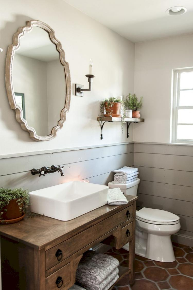 70+ Modern Farmhouse Bathroom Decor Ideas on Farmhouse Bathroom Ideas  id=57719