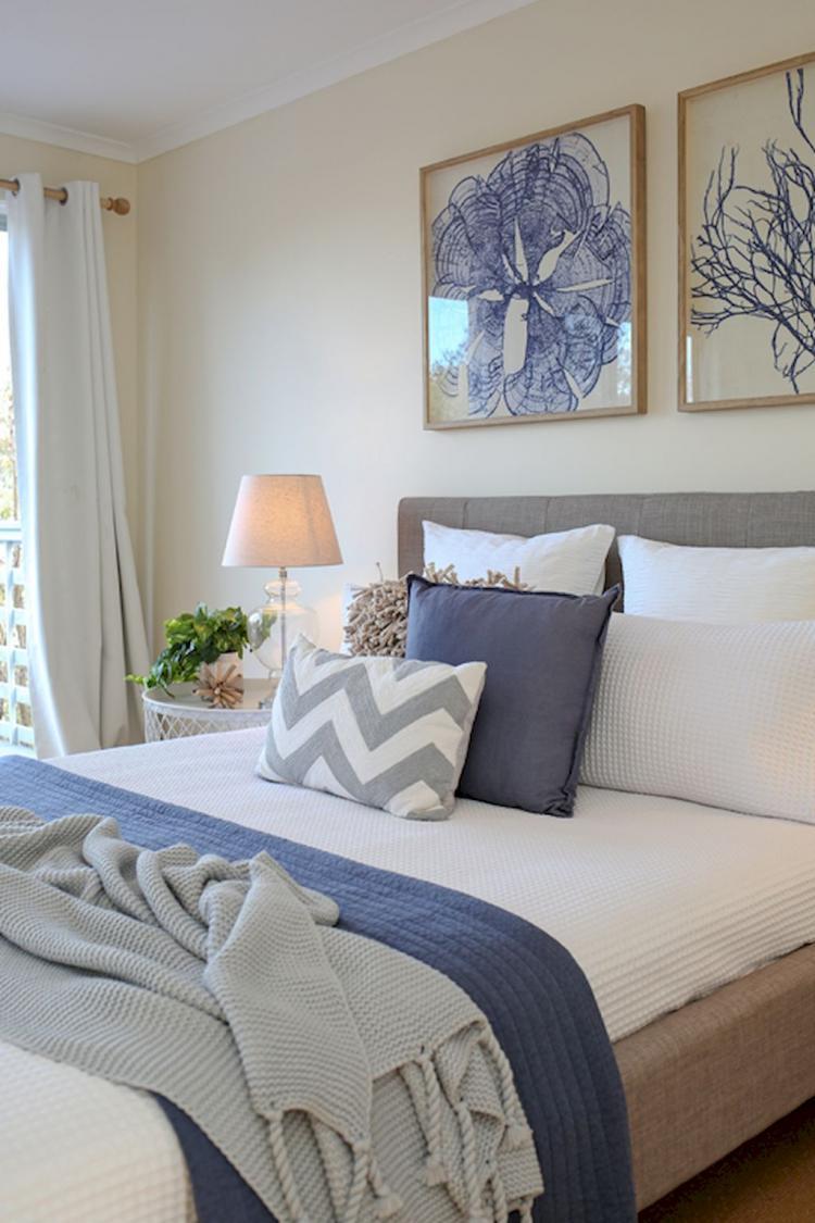 50+ Romantic Coastal Bedroom Decorating Ideas - Page 36 of 51